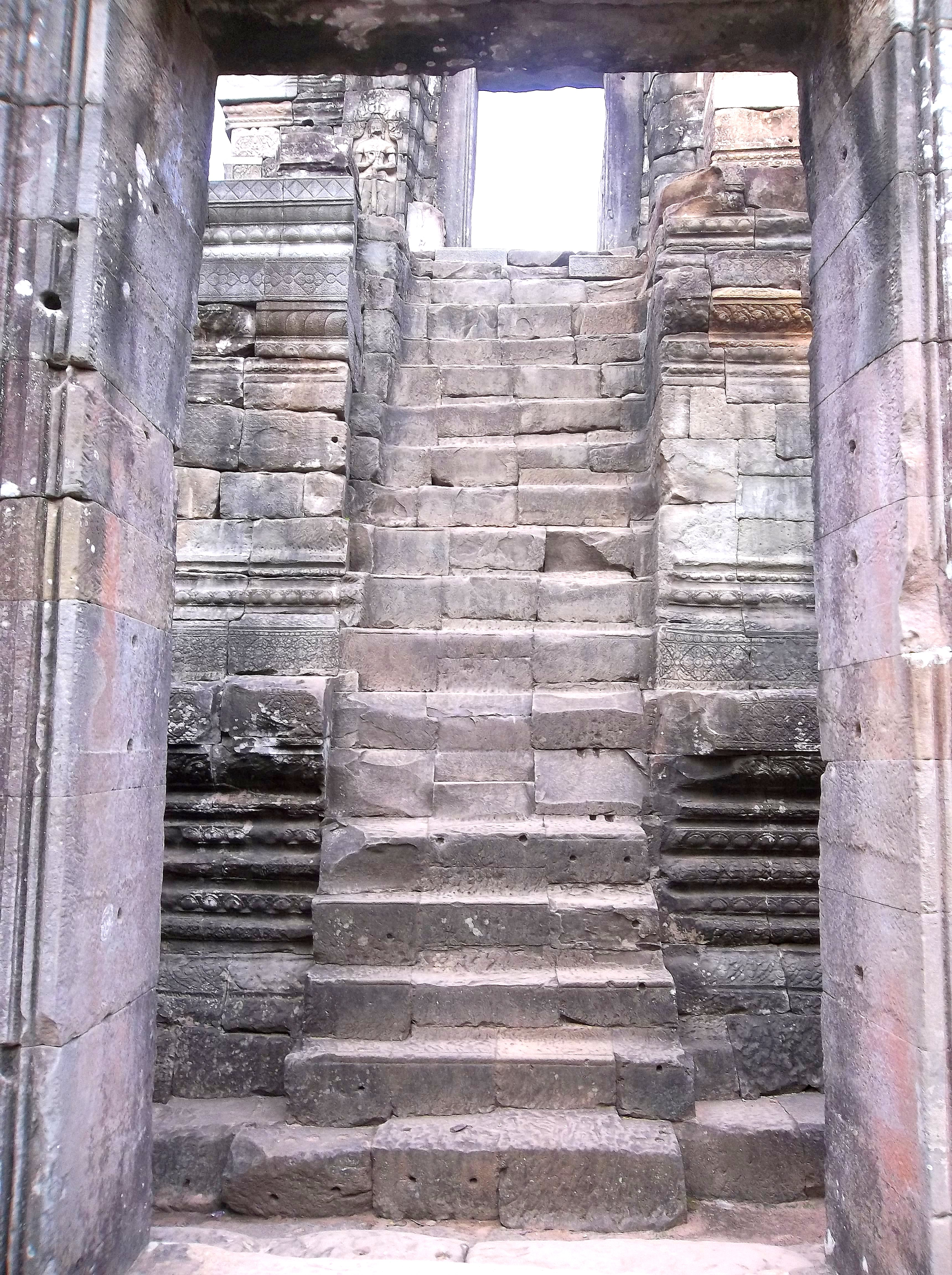 Bayon is filled with Corridors & Stairs - Cambodia