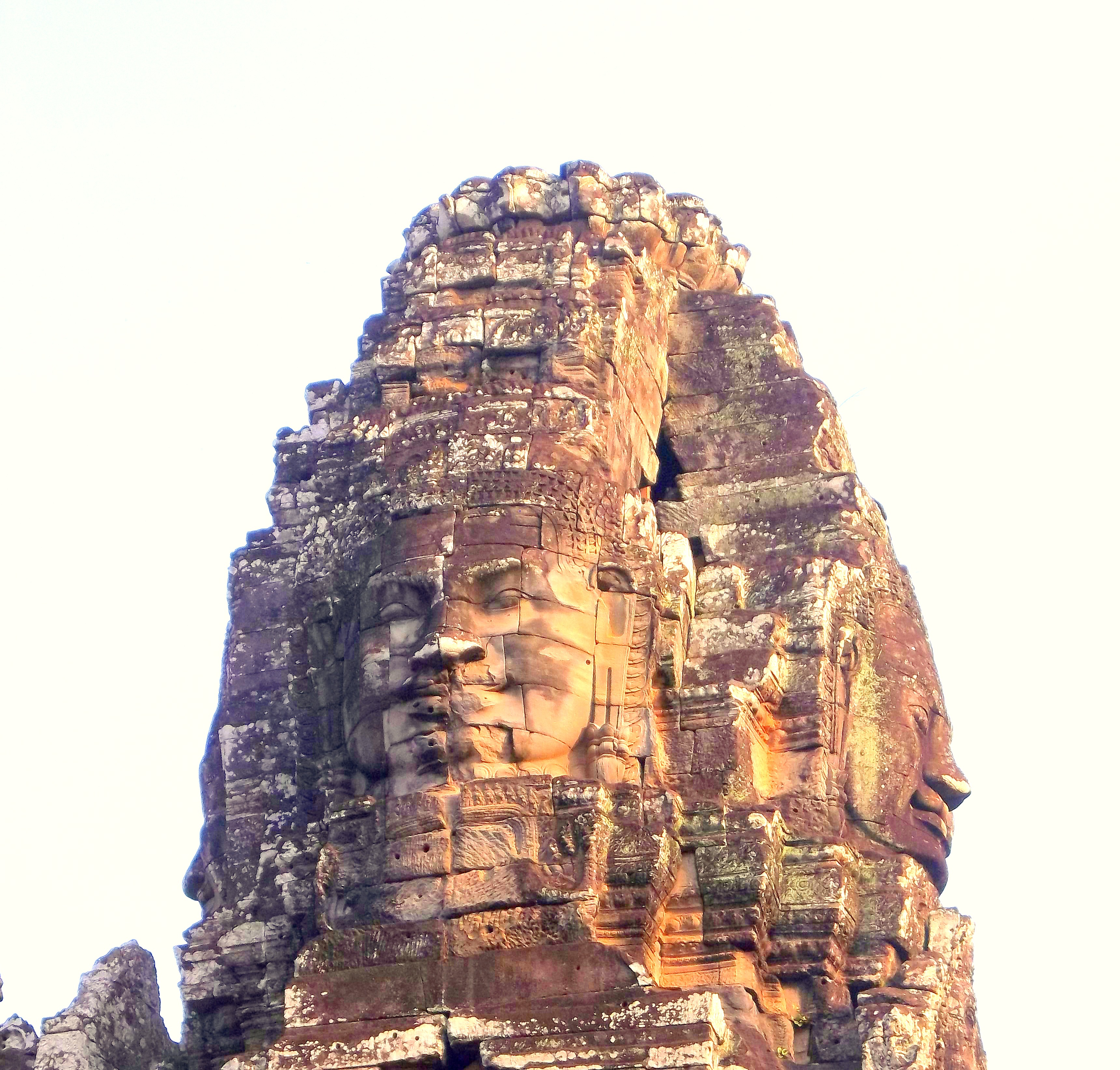Angkor Wat - Bayon Temple has 37 Towers - Most with Faces - Cambodia