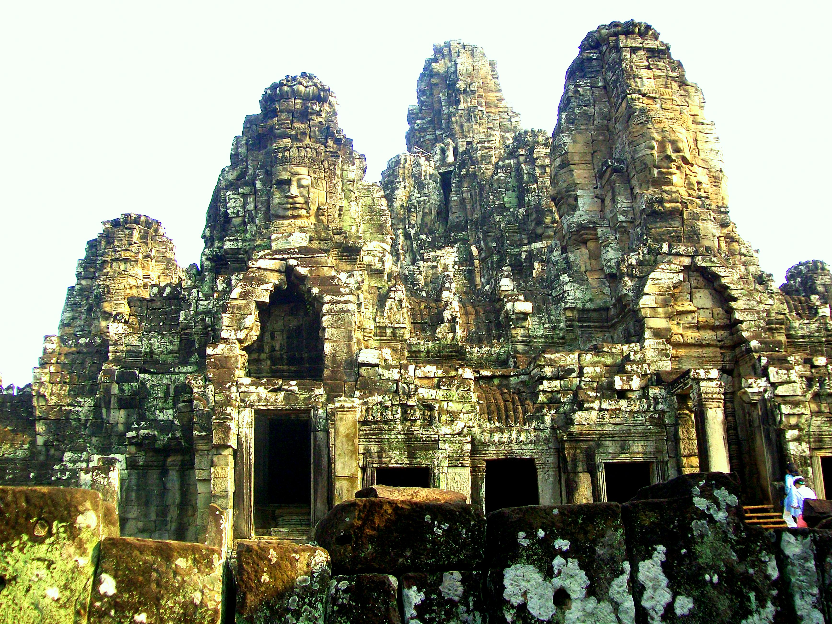 Angkor Thom - Bayon Temple Complex (See faces on the top of the Towers - Cambodia