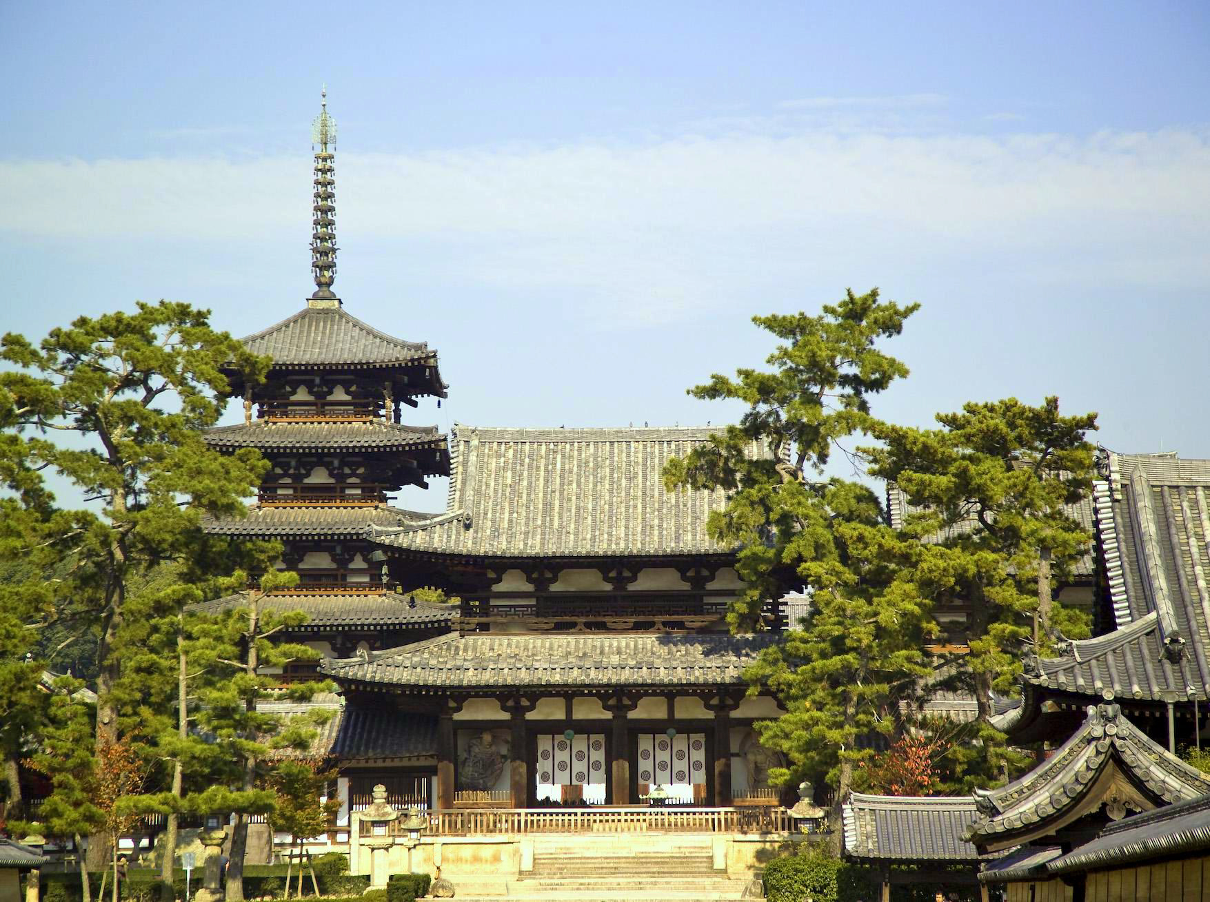 Horyuji Temple Japan  Buddhist Temple UNESCO World Heritage SIte -Nara Prefecture, Japan