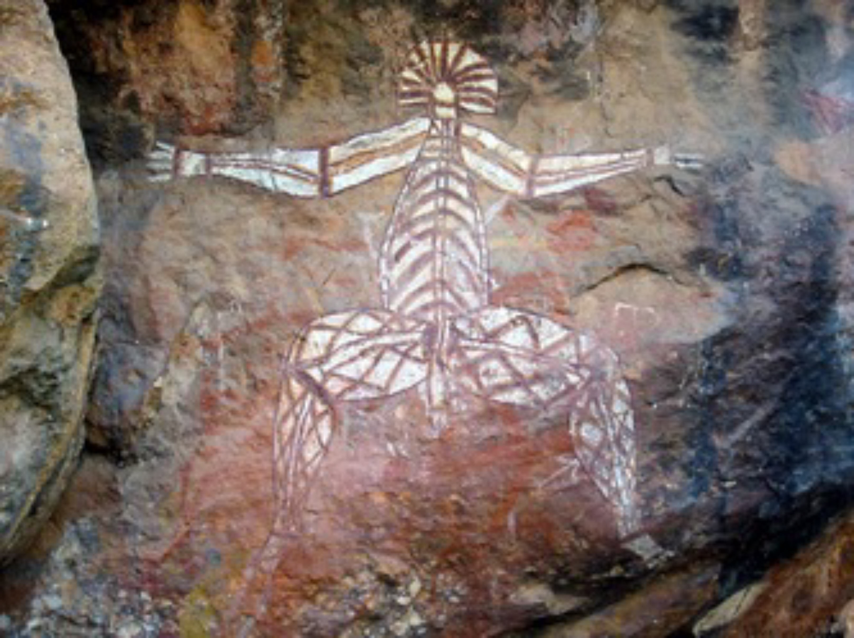 Kakadu (Aboriginal Pictograph -Fish)  Bininj & Mungguy People - Northern Territory, AU